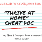 "New Release!! The ""Thrive At Home"" Cheat Document"